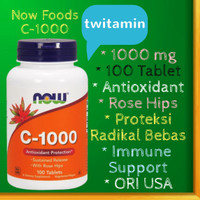 Now Foods, Vitamin C - 1000 mg, 100 Tablets +Rose Hips Made in USA