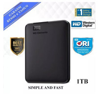 WD Element Elements 1TB Hitam - HD HDD Hardisk Eksternal External 2.5