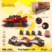 PROMO BBR1046 Ford Raptor Double Cabin Mainan Mobil DieCast Miniatur - Merah