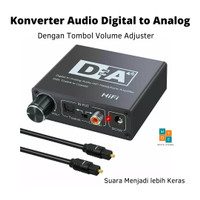 Digital Audio Converter Coaxial SPDIF to L/R with Volume Adjustment