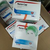 Nurse cap topi perawat ,tutup kepala non woven onemed
