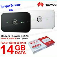 Modem Mifi Huawei E5573 Unlock all operato free Telkomsel 14GB - Hitam