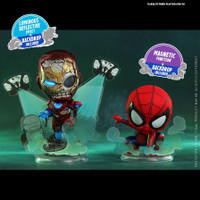 HOT TOYS HT COSBABY COSB768 MYSTERIO IRON MAN ILLUSION AND SPIDER-MAN