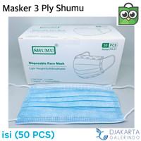 Masker 3 Ply isi 50pcs disposable surgical mask - Masker Shumu