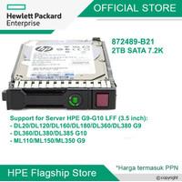 HDD HPE 2TB SATA 6G Midline 7.2K LFF (3.5in) SC 872489-B21