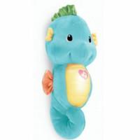 Fisher Price Soothe and Glow SeaHorse Mainan Boneka Edukasi Anak Bayi - Biru Muda
