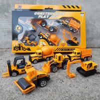 diecast set alat berat kontruksi mainan miniatur mobil anak excavator