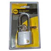 Yale Y120-50-163-1 High Security Padlock Gembok 50mm Panjang Silver