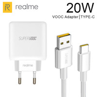 Charger Realme Super vooc 20w fast charging Original Cable USB Type C