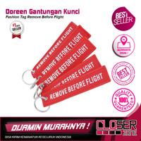 Doreen Gantungan Kunci Tag Kain Remove Before Flight - AE120693
