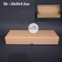 Dus Brownies Polos Laminasi 30x10x4.5cm ( 10pcs)