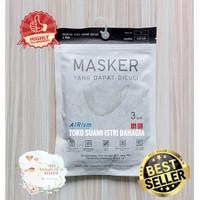Masker Airism Uniqlo Original isi 3 Pcs Washable Premium