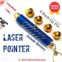 LASER POINTER MINI LONG SHOOT - LASER PRESENTER RED BEAM - LAMPU LASER
