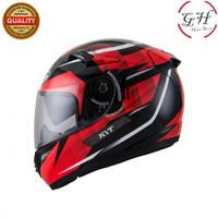 Helm KYT Full Face K2 Rider K2R Diamond Red Black Full Face