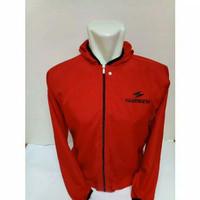 Jaket sepeda shimano parasut WaterProof - Merah -M - M