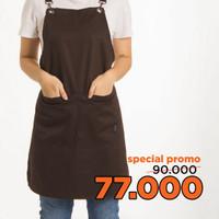 Apron Basil 2020 Coffee / Celemek Basil 2020 Cokelat Tua