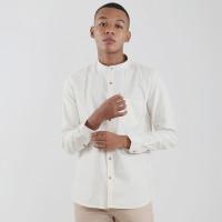 Edwin Jeans Linen Style Long Shirt Barry Cream