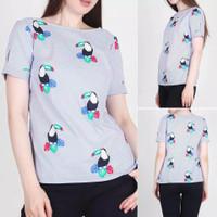 blouse ann taylor bird printing