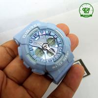Jam Tangan Cewek Digitec 4032 Dualtime Original Rubber Water Resist