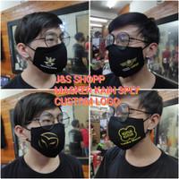 Masker kain 3ply khusus custom logo / sablon logo