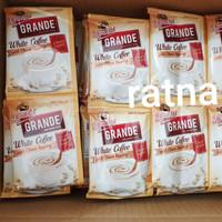 KOPI KAPAL API GRANDE WHITE COFFEE + Choco Topping 1 Renteng 10 Sachet