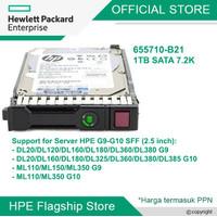 HDD HPE 1TB SATA 6G Midline 7.2K SFF (2.5in) SC 655710-B21