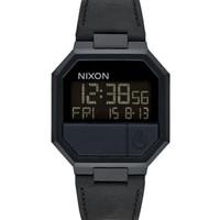 NIXON A944001 RERUN LEATHER ALL BLACK original