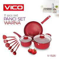 Panci Set Spatula Warna 11 Pcs / Panci Set Warna 11 In 1