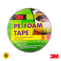 3M Double Tape PE Foam 24mm x 4m Double Tip Busa 4 Meter