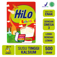 HiLo School Honey 500gr - Susu Tinggi Kalsium