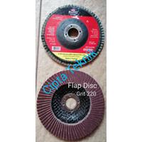 Mata Gerinda Amplas Flap Disc Euro 4 inchi Grit 220