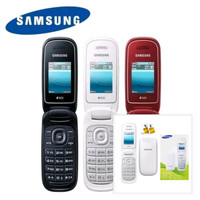 Hp Handphone Samsung caramel Flip GT - 1272 2 Sim Grade A - Putih