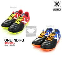 X MUNICH ONE FG ORIGINAL TERMURAH Sepatu Olahraga Sepak Bola Football - BlackRed, 41