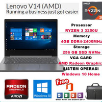 Laptop Lenovo V14 Amd Ryzen 3-3250u 4Gb 256Gb SSD 14inch Win10+office