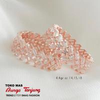 Cincin Rose Swarovsky / Emas / Bunga Tanjung Gold