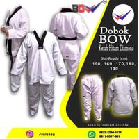 Dobok Seragam Taekwondo Kerah Hitam Diamond BOW Senior Baju Fighter