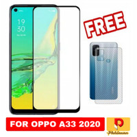 Tempered Glass Oppo A33 2020 Free Skin Carbon Film