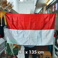Bendera merah putih 90 x 135 cm satin - 60 x 90 cm