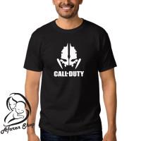 kaos baju t-shirt pria game premium call of duty skull