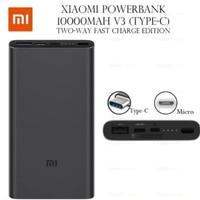 Powerbank Xiaomi Mi 3 18W USB Type C Power Bank 10.000mAh Original