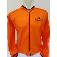 jaket sepeda shimano Parasut WaterProof - orange - M
