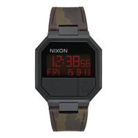 NIXON A9442255 RERUN LEATHER ALL BLACK / CAMO