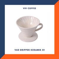 Saringan Kopi V60 Dripper Keramik 01 - Putih