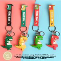 Gantungan kunci keychain boneka dinosaurus dino dengan strap