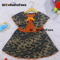 Dress Irene size 1-2 Tahun / Dres Batik Cape Anak Perempuan Murah