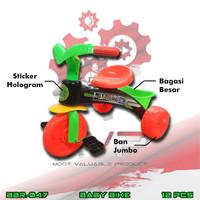 PROMO BBR047 Sepeda Roda Tiga Green Mainan Ban Jumbo Baby MVP