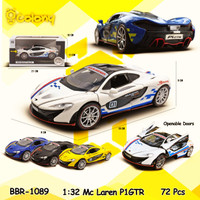 PROMO BBR1089 Mclaren Mainan Anak Mobil Miniatur Diecast Pajangan Mode - Putih