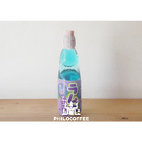 Hata Ramune Blueberry 200ml Minuman Soda Rasa Blueberry   1 Dus