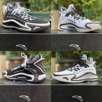 Sepatu Basket ANTA KT5 Klay Thompson KT 5 Low Black White Lines 2 Tone