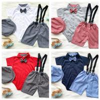 setelan suspender jumper bayi anak cowok 1 tahun torry jumper set - Putih, L